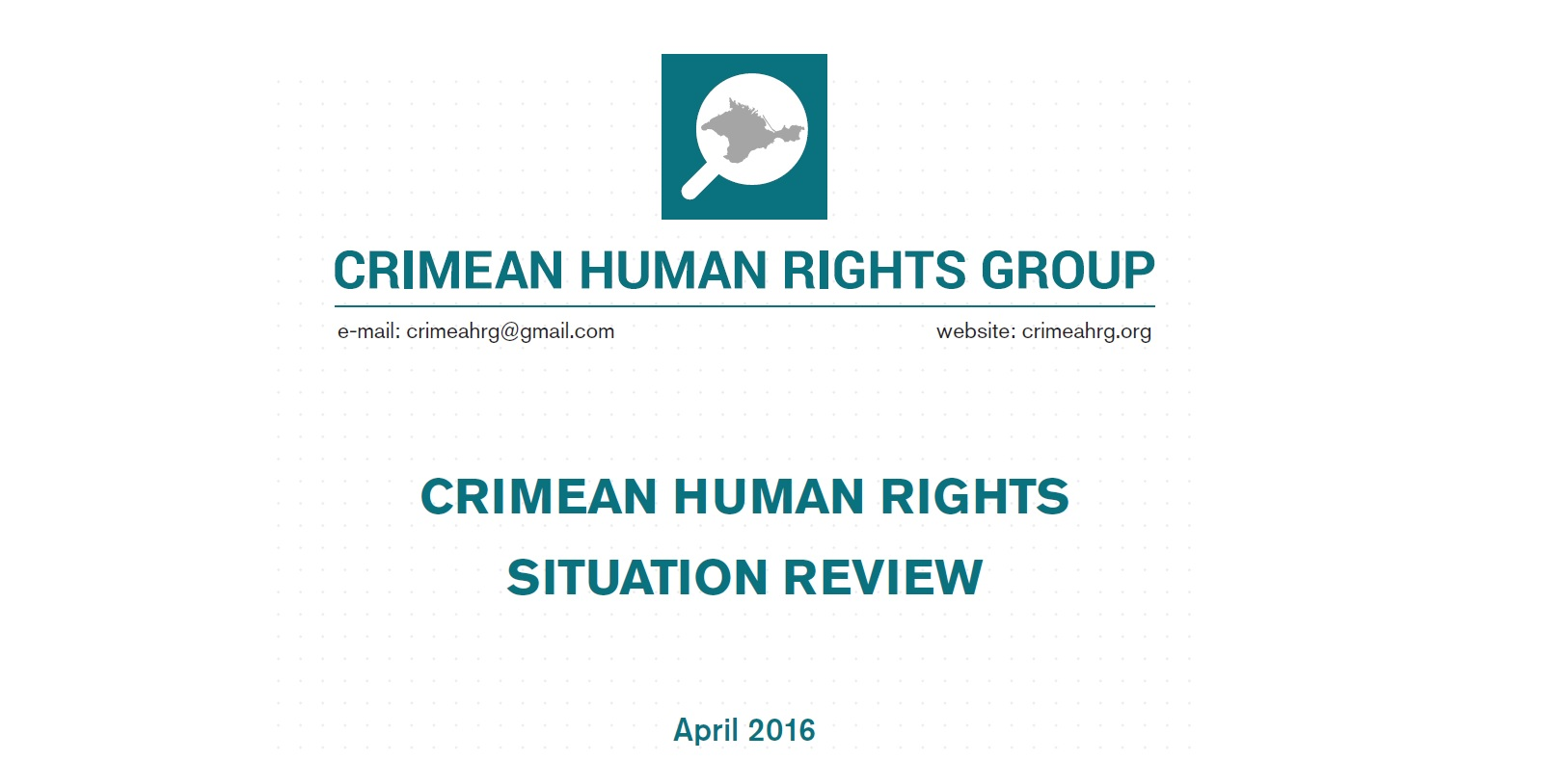 Review on the human rights situation in Crimea in April 2016