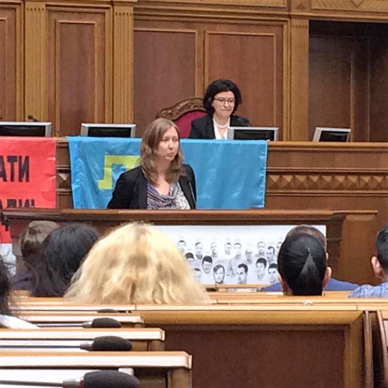 Ольга Скрипник выступила на парламентских слушаниях в Верховной Раде