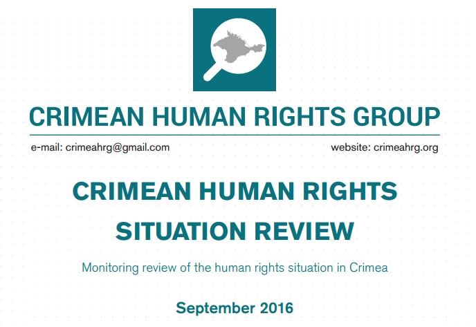 Review on the human rights situation in Crimea in September 2016