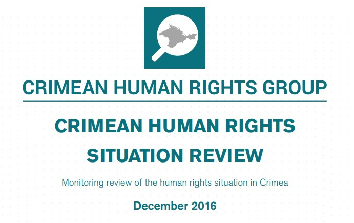 Review on the human rights situation in Crimea in December 2016