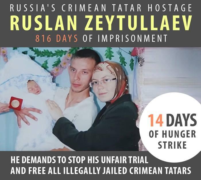 Appeal of NGOs with regards to hunger strike of the prisoner of Kremlin Ruslan Zeytullaev