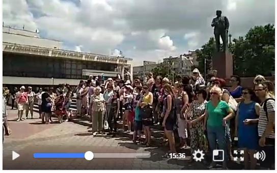 В Крыму задержали несколько десятков людей, вышедших на акцию протеста