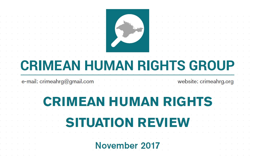 Review on the human rights situation in Crimea in November 2017