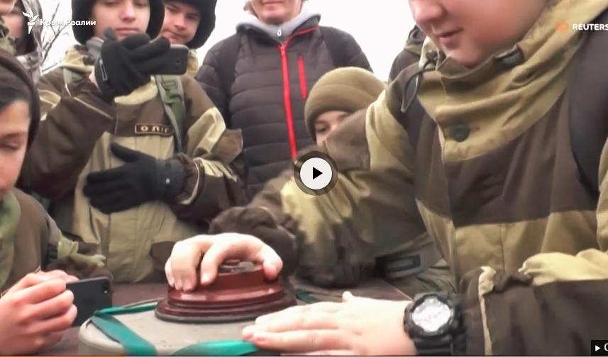 Крымских детей учат разминированию с целью пропаганды службы в армии РФ