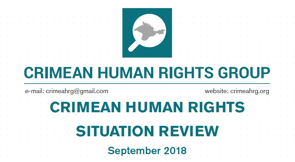 Review on the human rights situation in Crimea in September 2018