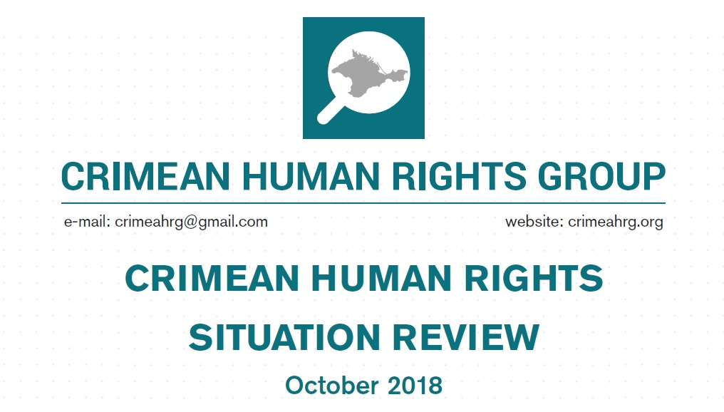 Review on the human rights situation in Crimea in October 2018