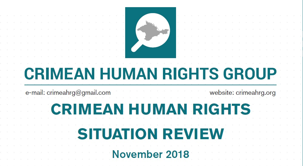 Review on the human rights situation in Crimea in November 2018
