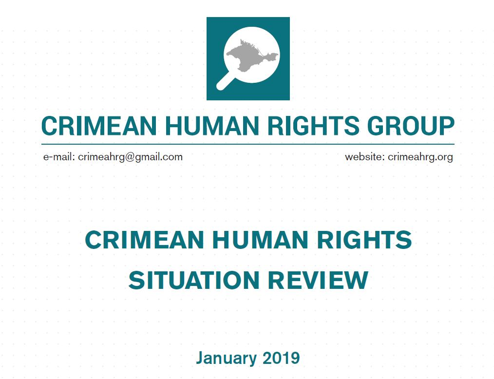 Review on the human rights situation in Crimea in January 2019