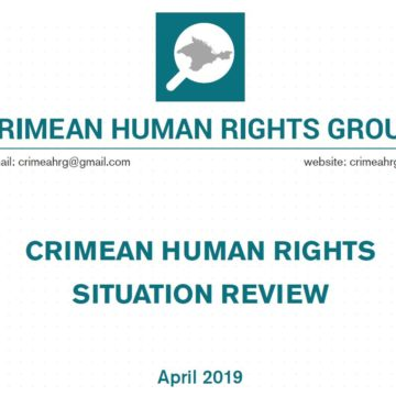Review on the human rights situation in Crimea in April 2019