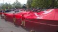 У Севастополі провели «дитячий парад»  з військовою технікою  та радянською символікою