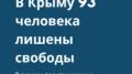 В рамках политических и религиозных преследований в Крыму лишены свободы 93 человека