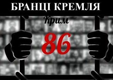 В рамках незаконных уголовных преследований по политическим и религиозным мотивам в Крыму лишены свободы 86 человек