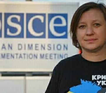 Ms Siedova, CHRG Expert, Appealed to OSCE to Intensify Pressure on the RF for Blocking Independent MM in Crimea
