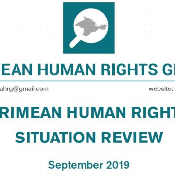 Review on the human rights situation in Crimea in September 2019