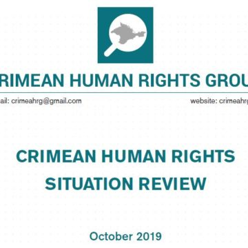 Review on the human rights situation in Crimea in October 2019