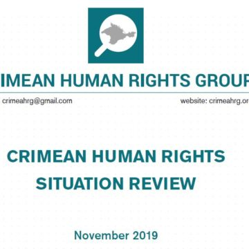 Review on the human rights situation in Crimea in November 2019