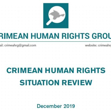 Review on the human rights situation in Crimea in December 2019