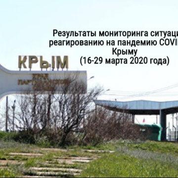 Результаты мониторинга ситуации по реагированию на пандемию COVID-19 в Крыму