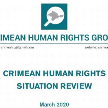 Review on the human rights situation in Crimea in March 2020