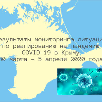 Findings of Monitoring the COVID-19 Pandemic Response in Crimea (30 March – 5 April 2020)