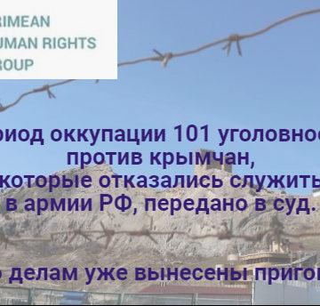 У Криму продовжують засуджувати за відмову від служби в армії  держави-окупанта