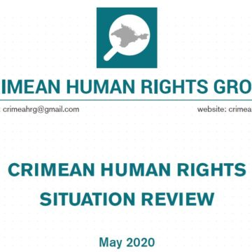 Review on the human rights situation in Crimea in May 2020