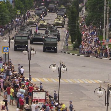 Occupation Authorities in Crimea Failed to Provide Audience with COVID-19 Necessary Protection Measures during Military Parades
