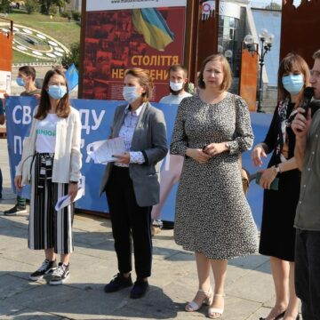 Action to Support Bakhchisarai Hizb-ut-Takhrir Case Defendants Held in Kyiv at Maydan Nezalezhnosti