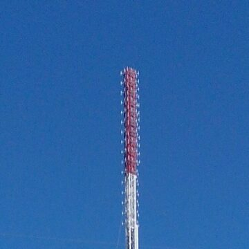 Occupation Authorities Mounted a New Tower in North of Crimea to Jam a Signal of Ukrainian FM Stations