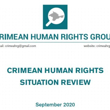 Review on the human rights situation in Crimea in September 2020