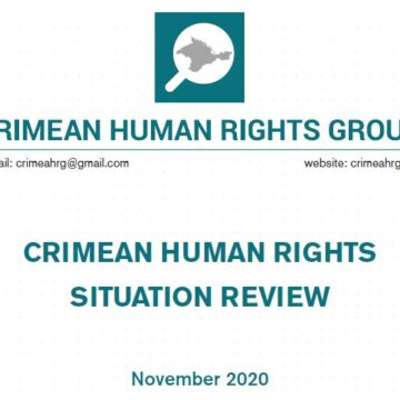 Review on the human rights situation in Crimea in November 2020
