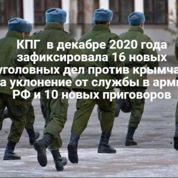 В декабре против крымчан вынесли рекордное количество приговоров за отказ служить в армии РФ