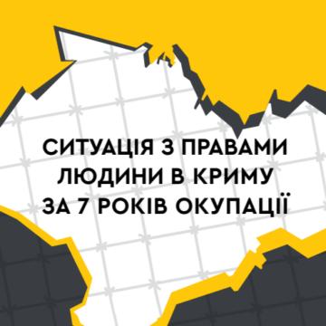 Ситуація з правами людини в Криму за сім років окупації: аналітична доповідь