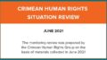 Review on the human rights situation in Crimea in June 2021