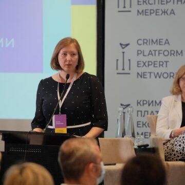 Керівниця КПГ Ольга Скрипник відкрила Установчий Форум Експертної мережі Кримської платформи