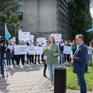У Києві відбулася акція солідарності  з затриманими на півострові  кримськими татарами