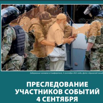 Преследование участников событий 4 сентября в Симферополе: правозащитный обзор